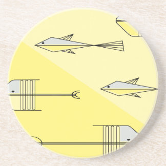 "FISH TALE Coaster 4.5"" LEMON"