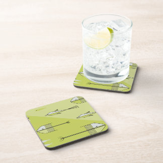FISH TALE Coaster Set Of 6 CHARTREUSE