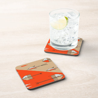FISH TALE Coaster Set Of 6 PERSIMMON-SAND