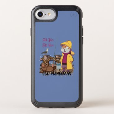 Fish Tales Told Here - Old Fisherman Speck iPhone Case