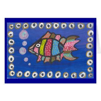 FISH TALK GREETING CARD