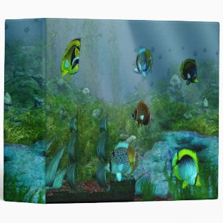 Fish Tank Aquarium Art Binder