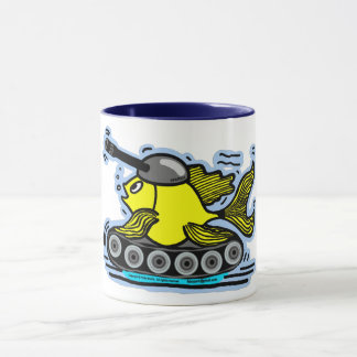 FISH TANK funny cute cartoon Tea/Coffee Mug