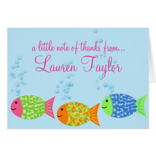 Fish Thank You Notecards Card Zazzle