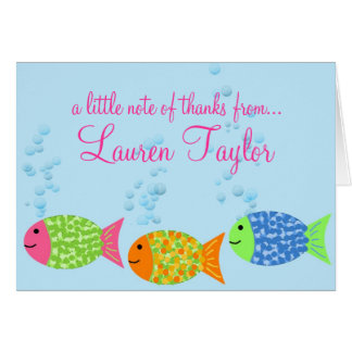 Fish Thank You Notecards Stationery Note Card
