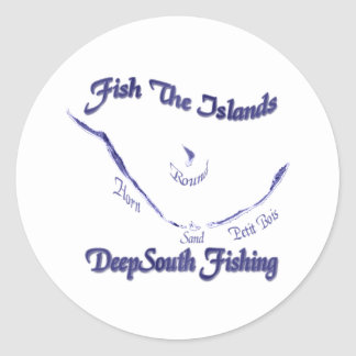 Fish The Islands Collection by FishTs.com Classic Round Sticker