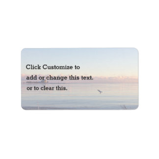 Fish Themed, A Bird Flying After Catching A Fish F Address Label
