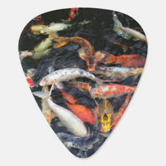 Fish Themed, Several Fishes, White Orange, Yellow Guitar Pick