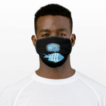 Fish Thinking About Fish Adult Cloth Face Mask