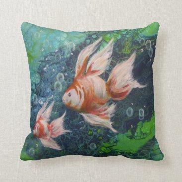 Beach Themed Fish Throw Pillow