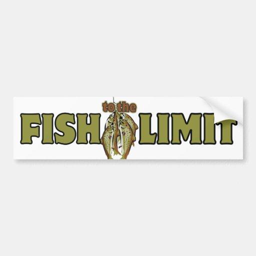 Fish To The Limit Bumper Sticker
