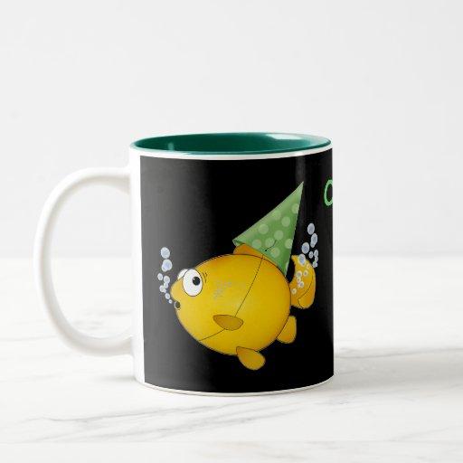 FISH tooting, Oops! Two-Tone Coffee Mug