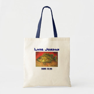 Fish Tote Bag handy-size Lake Jordan Alabama