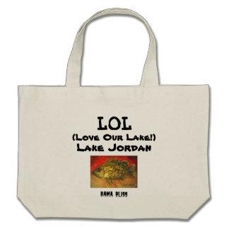 Fish Tote Bag LOL Love Our Lake Lake Jordan