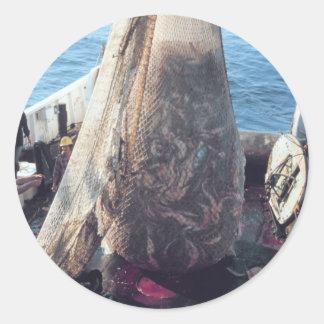 Fish Trawling Net Classic Round Sticker