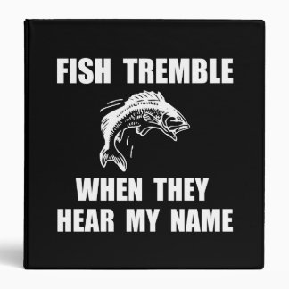 Fish Tremble 3 Ring Binder