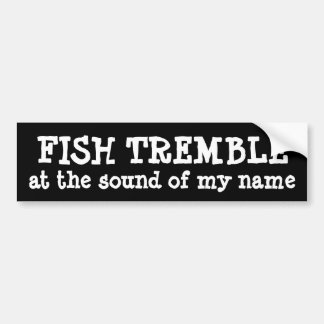 fish tremble bumper sticker car bumper sticker