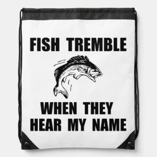 Fish Tremble Drawstring Backpack