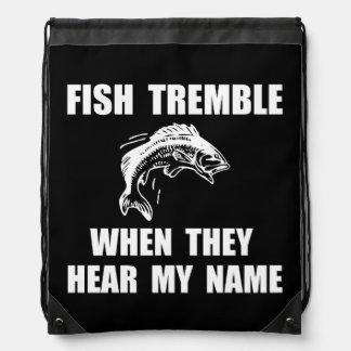 Fish Tremble Drawstring Bag