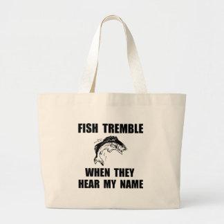 Fish Tremble Large Tote Bag