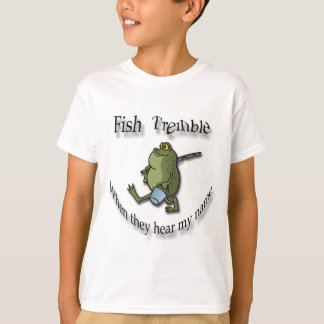 Fish Tremble When They Hear My Name  black frog T-Shirt