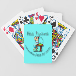 Fish Tremble When They Hear My Name  cyan Bicycle Playing Cards