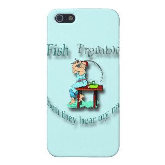 Fish Tremble When They Hear My Name  cyan Cover For iPhone SE/5/5s