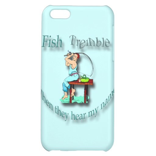 Fish Tremble When They Hear My Name  cyan iPhone 5C Case