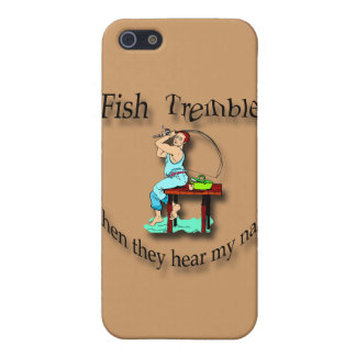 Fish Tremble When They Hear My Name  man black iPhone SE/5/5s Case