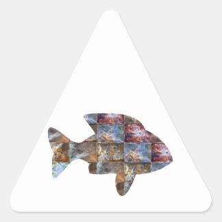 FISH TRIANGLE STICKER
