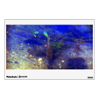 Fish Trolling Bottom of Lake Rectangle Wall Decal