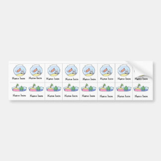 Fish Turtle sippy cup labels
