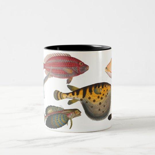 Fish Two-Tone Coffee Mug