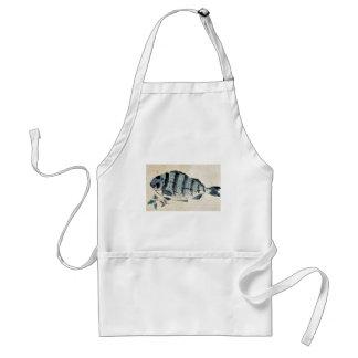 Fish Ukiyo-e. Adult Apron