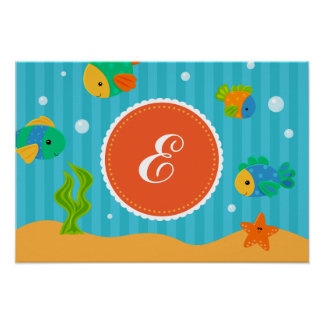 Fish Under The Sea Creatures Kids Poster