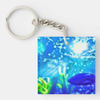 Fish Under The Sea Acrylic Key Chain