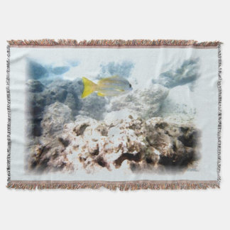 Fish Underwater Throw Blanket