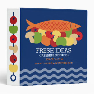 Fish vegetables fresh healthy food chef catering 3 ring binder