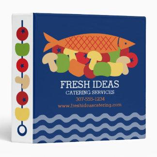 Fish vegetables fresh healthy food chef catering vinyl binder