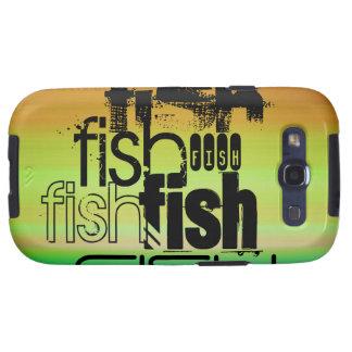 Fish; Vibrant Green, Orange, & Yellow Galaxy S3 Cover