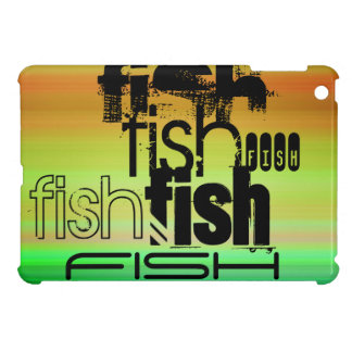 Fish; Vibrant Green, Orange, & Yellow iPad Mini Covers