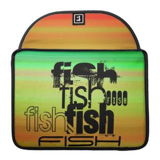 Fish; Vibrant Green, Orange, & Yellow MacBook Pro Sleeves