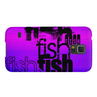 Fish; Vibrant Violet Blue and Magenta Cases For Galaxy S5