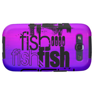 Fish; Vibrant Violet Blue and Magenta Samsung Galaxy S3 Cases