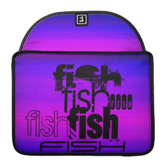 Fish; Vibrant Violet Blue and Magenta MacBook Pro Sleeve