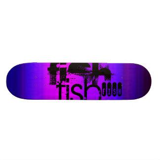 Fish; Vibrant Violet Blue and Magenta Skateboard