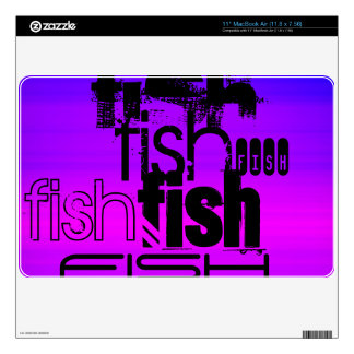 Fish; Vibrant Violet Blue and Magenta Decal For The MacBook