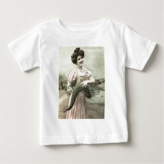 Fish Victorian Woman Pond Poisson d'avril Baby T-Shirt