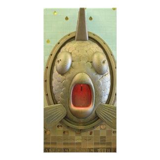 Fish water fountain card