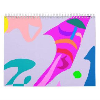 Fish Waves Shell Gray Sky Jump Composition Calendar